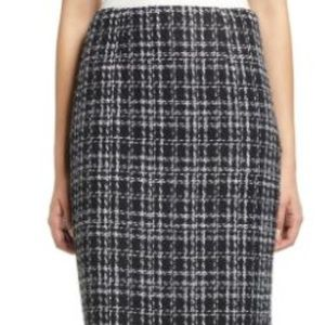 Halogen plaid tweed skirt NWOT Size